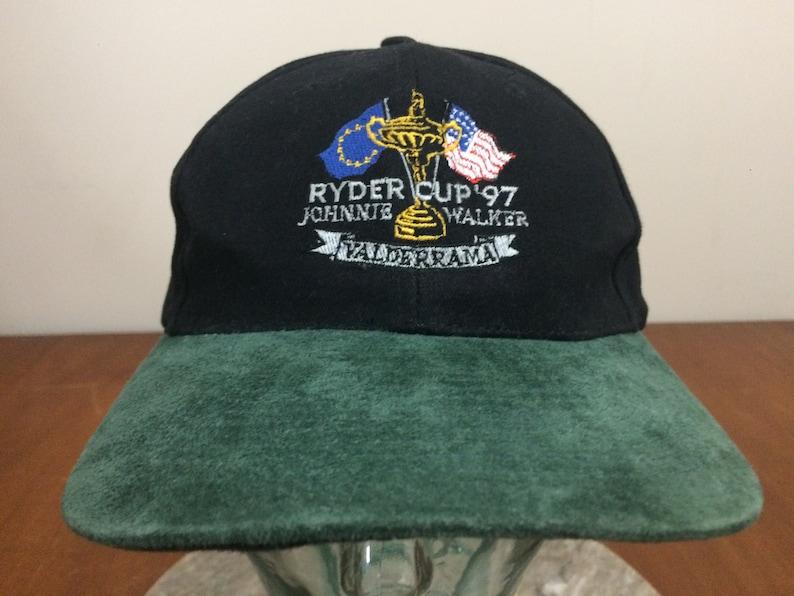 6b1c6e6292e 1997 Ryder Cup baseball hat cap black green suede style bill
