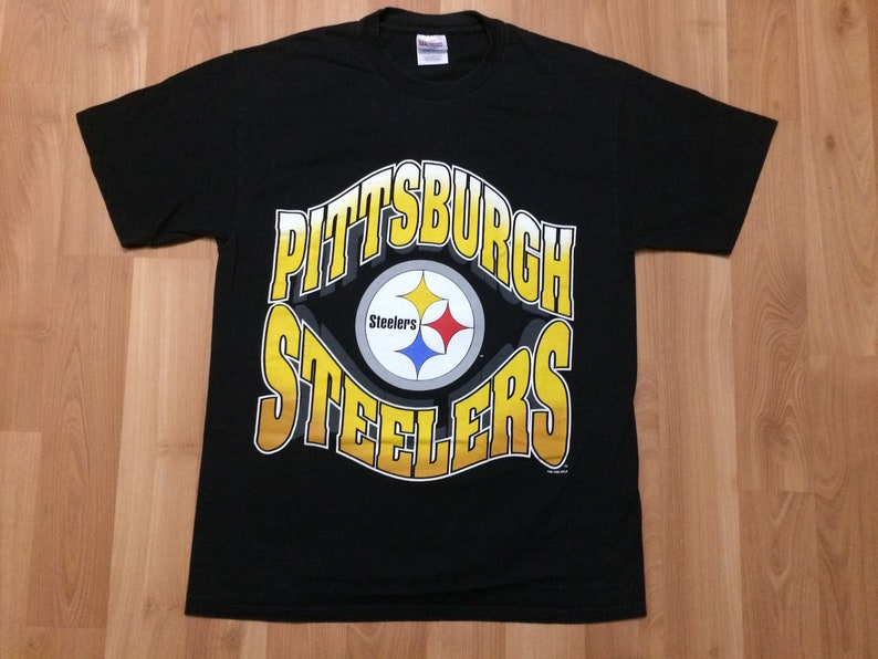 64807a51e Large 1996 Pittsburgh Steelers men s vintage T shirt black