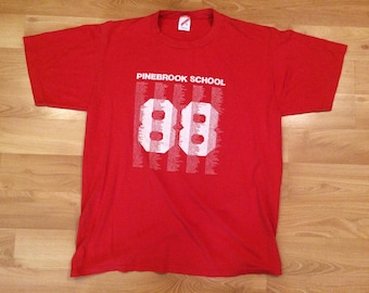 Vintage Class of 1988 Hillside High School New Jersey NJ T-Shirt XL 0kzYnr