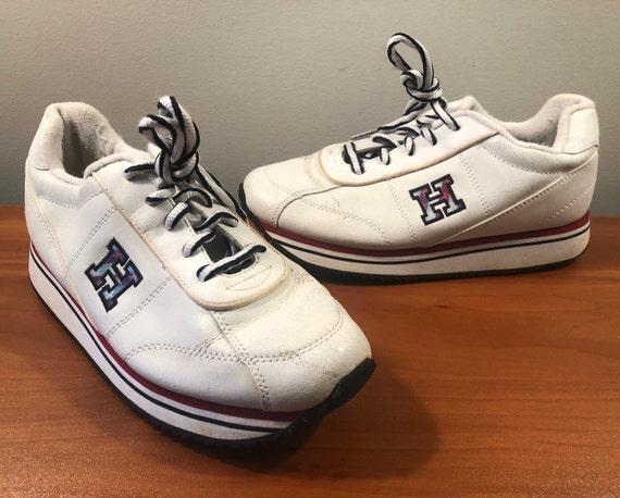 90's Tommy Hilfiger platform sneakers shoes men's… - image 1