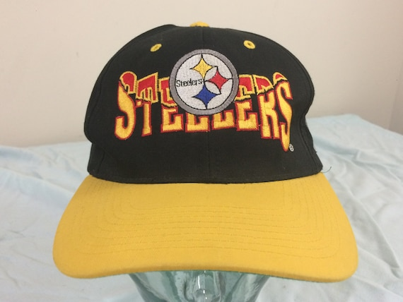 07931bfae 90 s Pittsburgh Steelers snapback baseball hat cap black