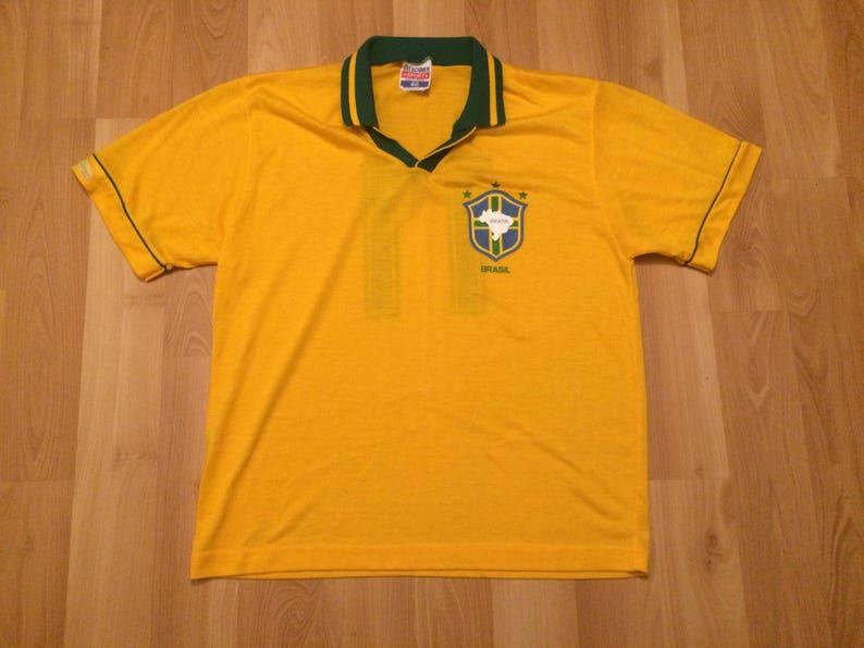 Size 48 Large vintage Brazil Brasil soccer jersey National  3e4ebc5a0