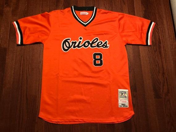 purchase cheap a1aa7 5dee7 Size 52 XL 90's Baltimore Orioles throwback jersey men's Cal Ripken Jr.  Mitchell & Ness 1982 orange black white 1990's