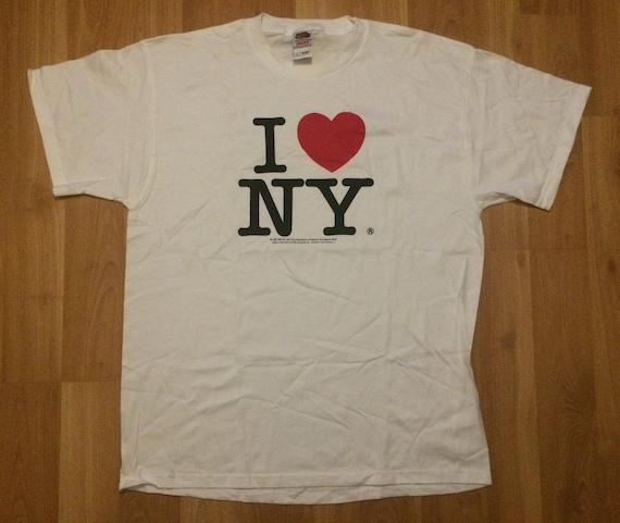 XL 1996 I Love New York men's T shirt vintage Frui