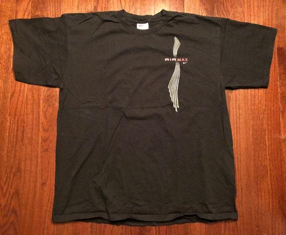 XL 90's Nike Air Max T shirt men's vintage black … - image 1