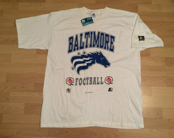 NEW XXL 1994 CFL Baltimore Colts T shirt mens vintage Starter extremely rare heather gray Canadian Football League Maryland 90's 1990's OrpPgFof