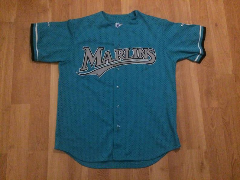f541706e555 XL 90 s Florida Marlins baseball jersey Majestic Official