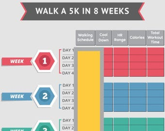 Walk A 5K In 8 Weeks, Fitness Walking, Walking Workout, Workout Plan, Beginner Workout Overweight, New Years Resolution, Walking Exercise