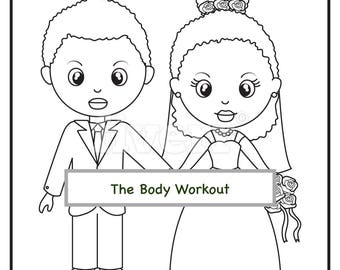 Wedding Coloring Pages for Kids Personalized Kids Coloring | Etsy