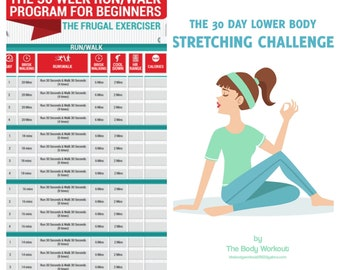 30 Day Squat Challenge Squat Challenge Plank Challenge 30 Etsy