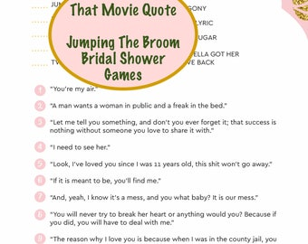 jumping the broom bridal movie quote game african american wedding shower games games for bridal shower african american wedding games
