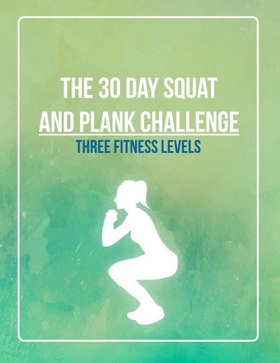 30 Day Squat Challenge, Squat Challenge, Plank Challenge, 30 Day Plank  Challenge, Home Workout Plan, Daily Workout, At Home Workout,
