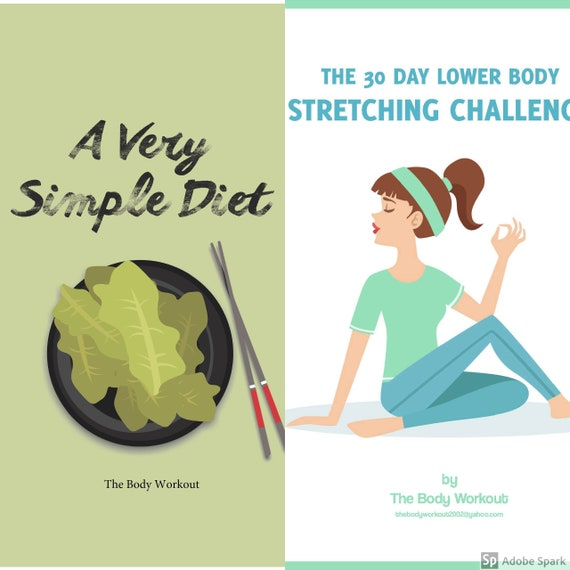 Get Back Into Shape Plan 30 Day Lower Body Stretching Etsy