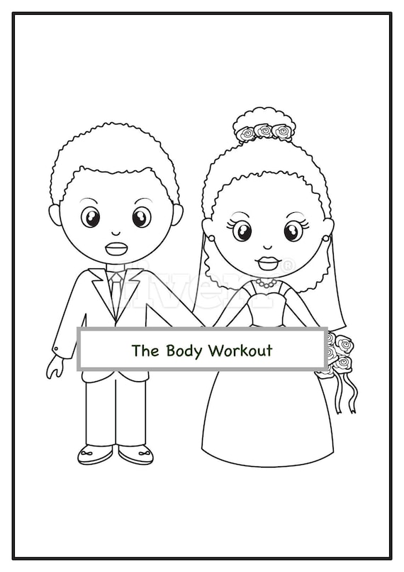 - African American Wedding Coloring Book For Children Kids Etsy
