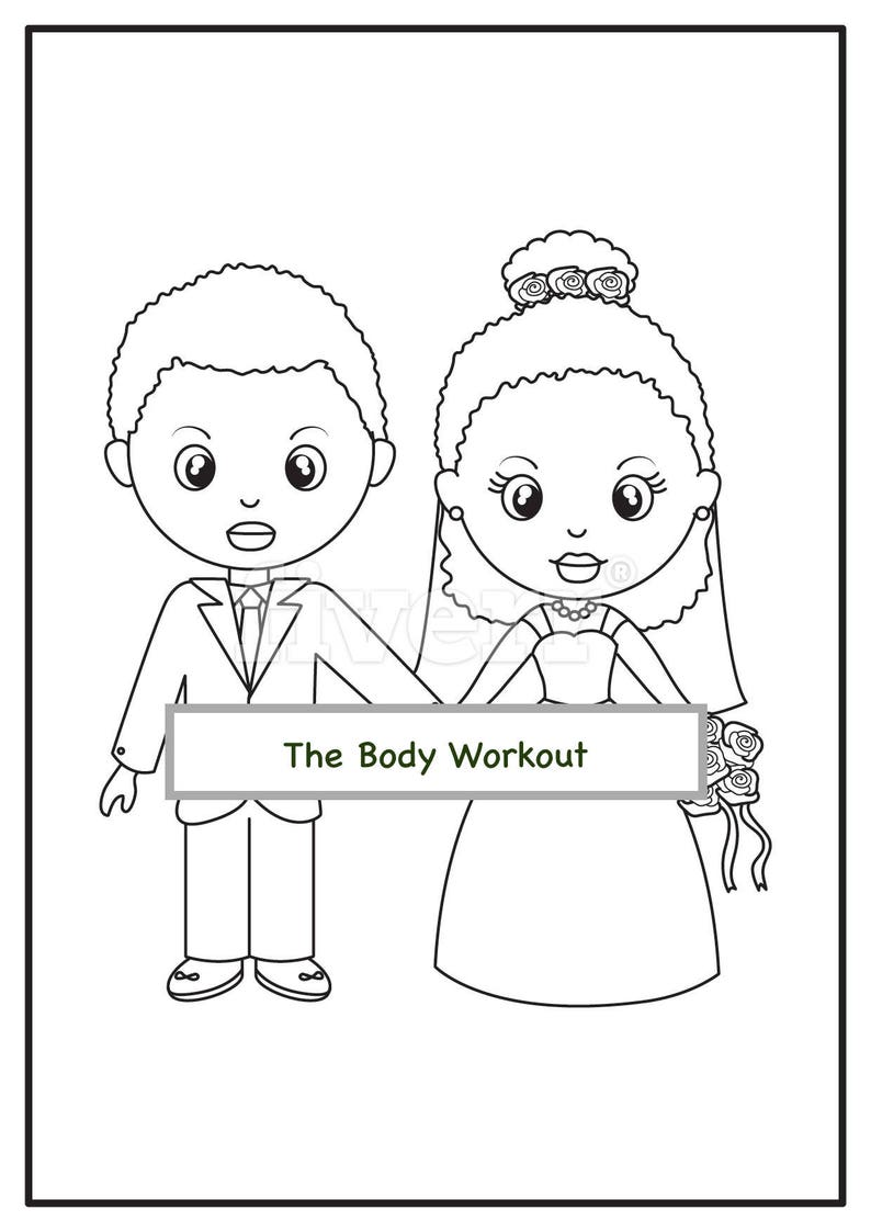 African American Wedding Coloring Book For Children Kids | Etsy