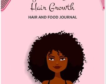 Natural Hair Growth Challenge,  Natural Hair Journal, Food Journal, Natural Hair Care, Black Hair Care, Natural Hair Diary, Food Diary