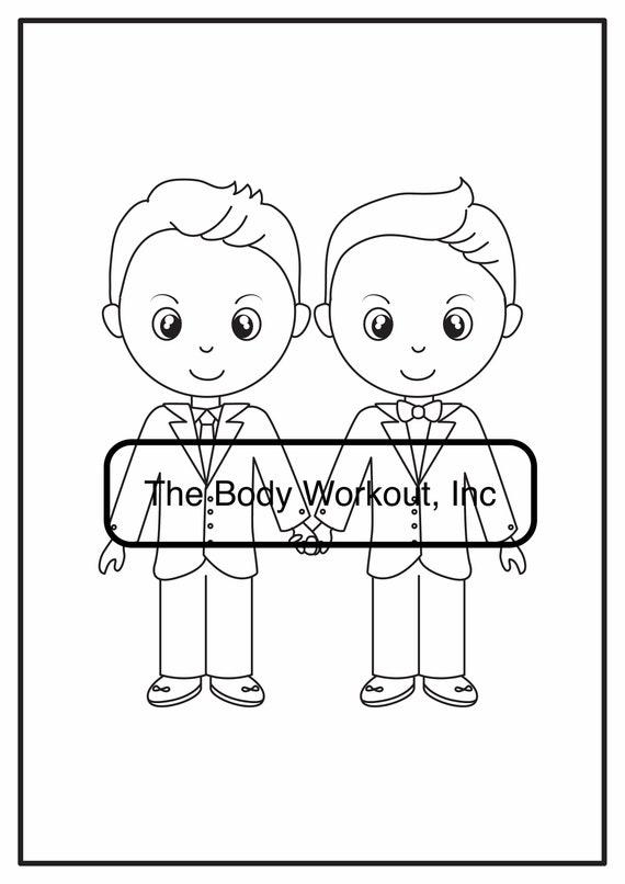 LGBT Wedding Day Activity Book LGBT Wedding Coloring Book Etsy