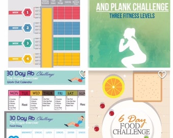 Weight Loss Program, New Years Resolution Fitness Package, Beginner Workout Plan, Fitness Program, Squat Challenge, Ab Challenge, Fat Loss
