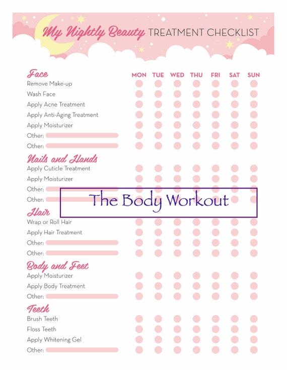 beauty checklist beauty organizer beauty routine tracker etsy