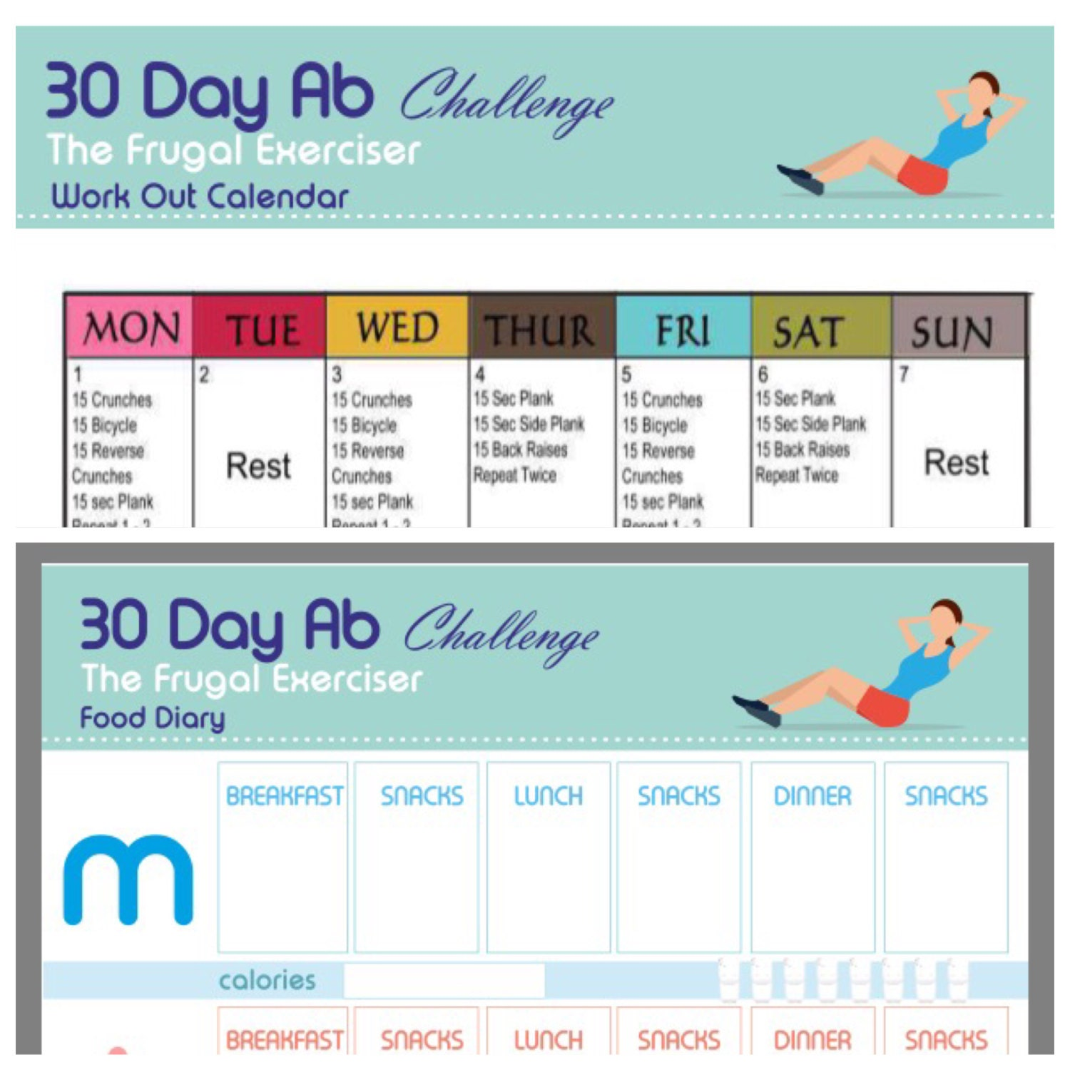 Weight Loss Plan Ab Workout Printable The 30 Day