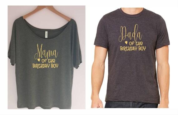 Mama And Dada Of The Birthday Boy Shirt