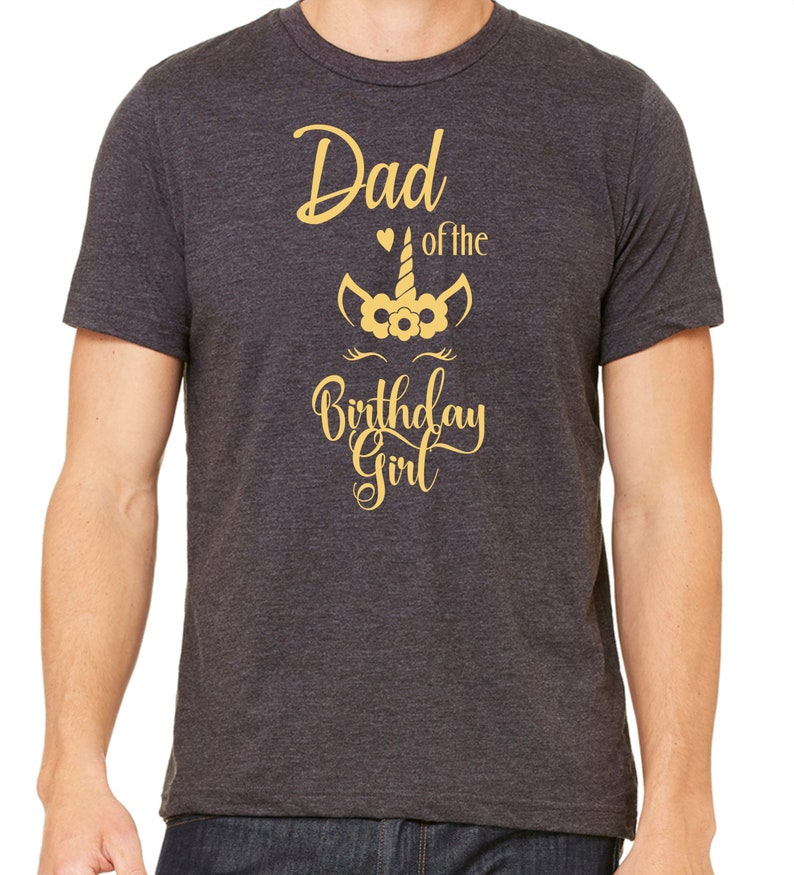 4ab53adf Dad of the birthday girl shirt Family birthday shirts Unicorn | Etsy