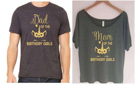 Mom And Dad Of The Birthday Girls Shirt Girl