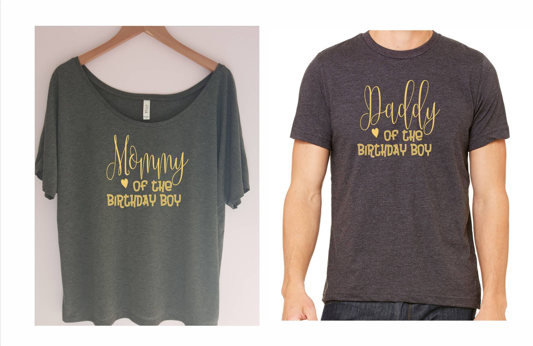Mommy And Daddy Of The Birthday Boy Shirt