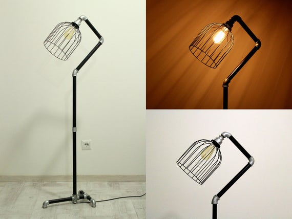 Handmade floor lamp metal lamp shade Industrial lighting