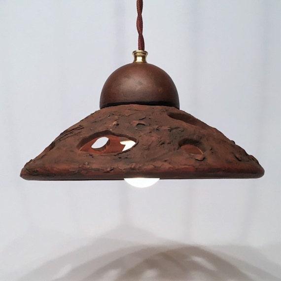 Ceramic Pendant Light Rustic Light Fixture Retro Lighting