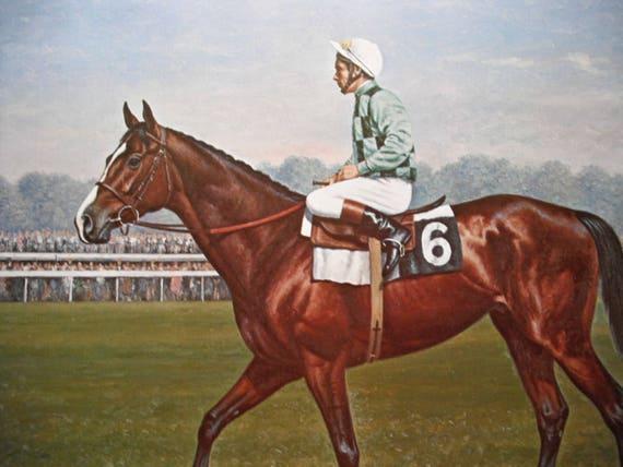 Horse Art Print Vintage Horse Print Exceller Richard Stone Etsy