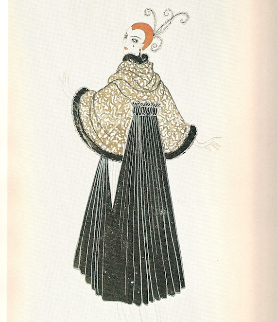 Erte Print Art Deco Print Erte Fashion Erte Art Fashion Design Paris  Fashion French Fashion Theatrical Costume Vintage Fashion Bendels