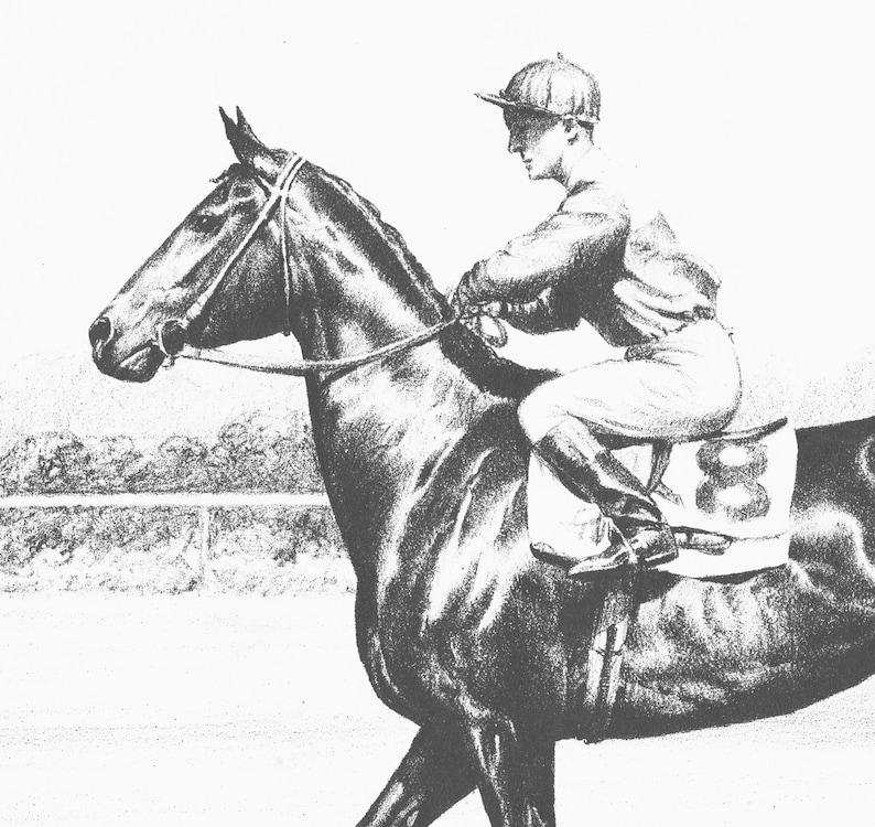 Horse Illustration Vintage Horse Art Cw Anderson Race Horse