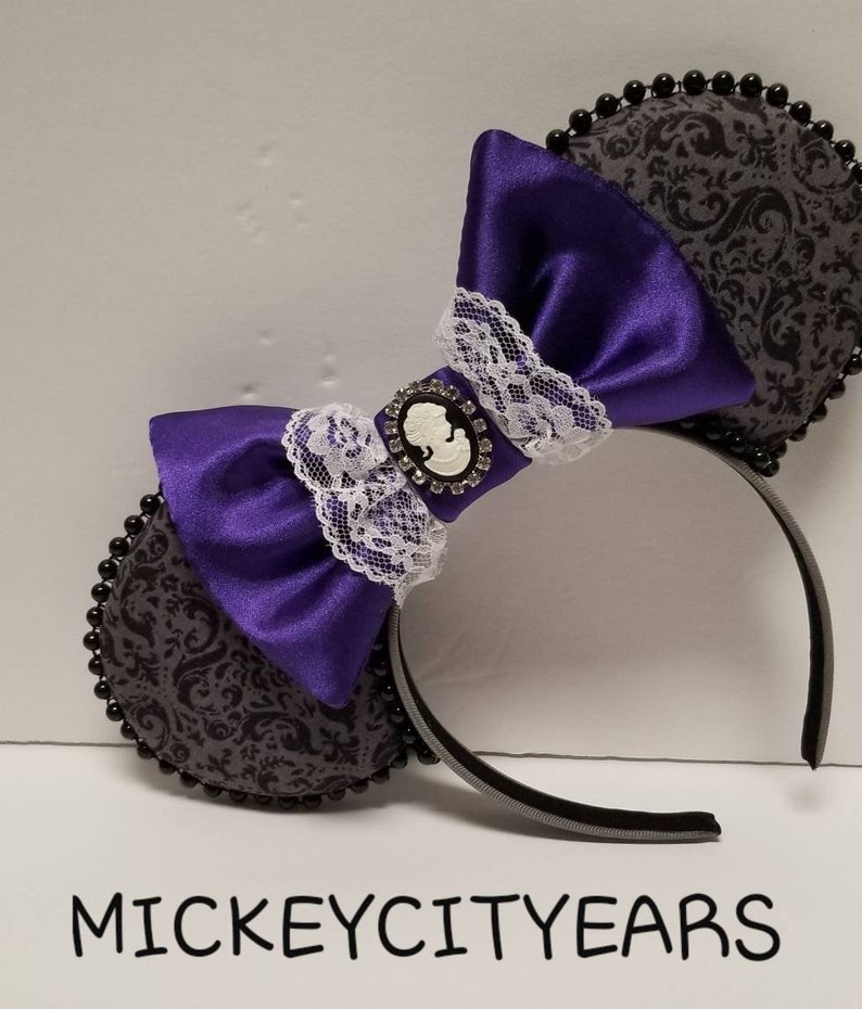 Haunted Mansion Inspired Ears-Purple Bow image 0