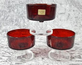 Weinglas Glas Cristal d/'arques Luminarc Quadrille wohl 70er Jahre France von6 1