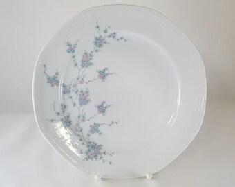 Teal Edge Mitterteich form 2250 Flowers Decor Plate