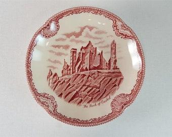 JOHNSON BROS England OLD BRITAIN CASTLES rot schöne Kaffeetasse mit Untertasse