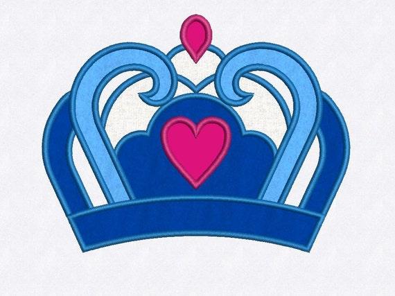 Heart Crown Applique Machine Embroidery Design, Digital Pattern, Instant  Download