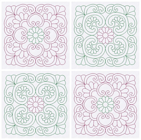 Quilt Blocks Embroidery Designs Quilting Embroidery Patterns Etsy