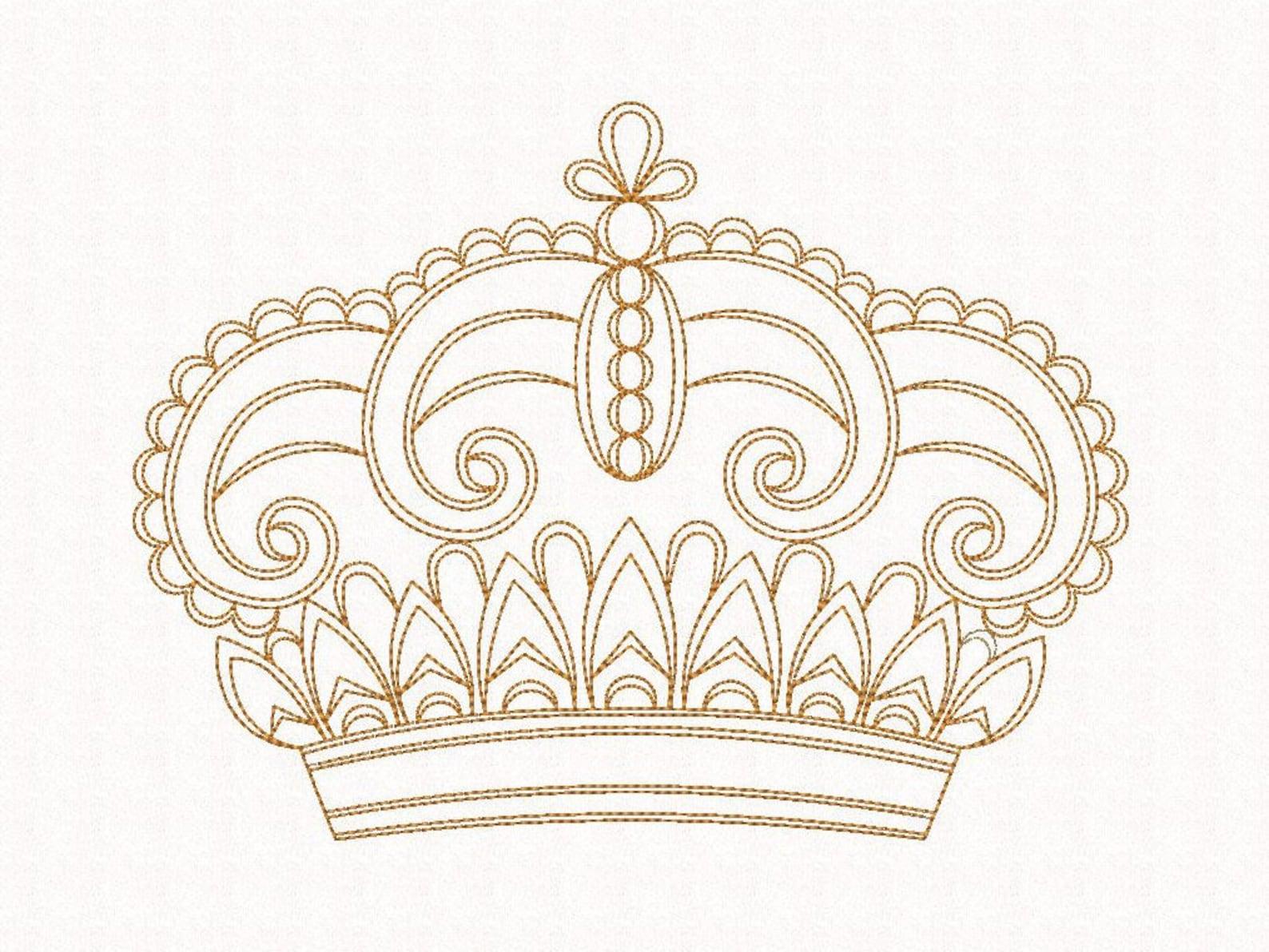 стал картинки вышивок короны них