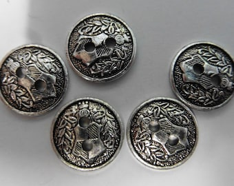 Vintage Buttons - Knights Shield