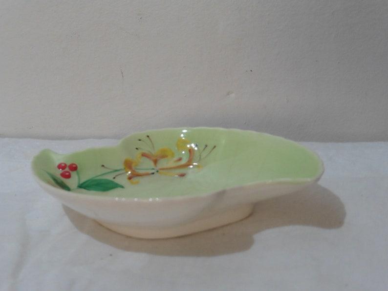 Mint Green Dish Crown Devon Vintage