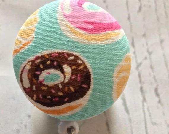 Crazy About Donuts | Fabric Interchangeable Badge Reel
