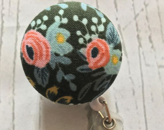 Rifle Paper Co - Rosa Hunter | Fabric Interchangeable Badge Reel