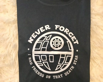 Death Star Disney Race Shirt | Run Disney | Darth Vader | Champion Moisture Wicking Running Shirt | Wine and Dine Marathon | Epcot
