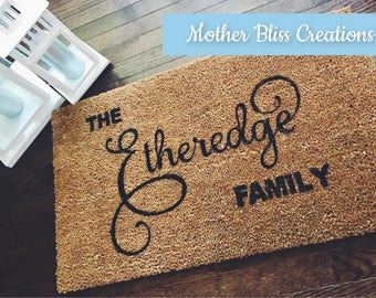 Personalized Welcome Mat - Custom Doormat - Housewarming Gift - Closing Gift - Unique Home Gift