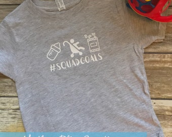 Squad Goals | Baby and Toddler Shirt and Bodysuit | Bottle, Stroll, Snack, Eat | #squagoals