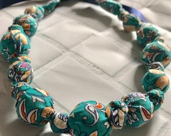 Spring Burst Cotton Nursing Necklace | Breastfeeding | Organic Wood | Fabric Neckwear | Baby Shower | Nursing