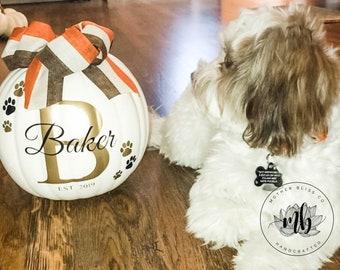 Personalized Halloween Foam Pumpkins - Halloween Pumpkins - Dog Name Pumpkins - Reusable Pumpkins - Dog Mom - Dog Name Perosnalized Pumpkin