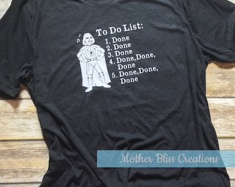 Darth Vader To Do List Shirt | Star Wars Theme Song | Done Done Done Shirt | Vader | Star Wars | Funny Dad or Mom Shirt
